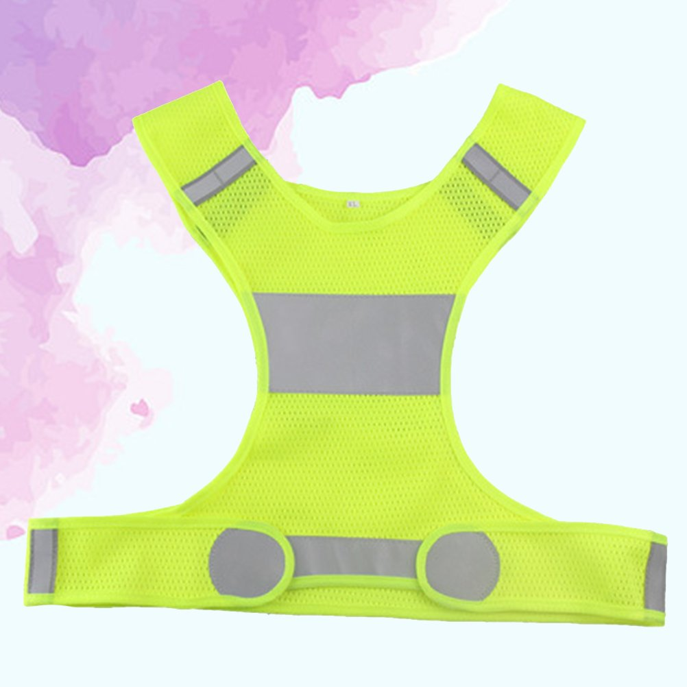 WINOMO Reflective Comfy Vest for Running Cycling Adjustable Waist Ultra Light Runing Gear for Jogging Biking Motorcycle Walking Yellow