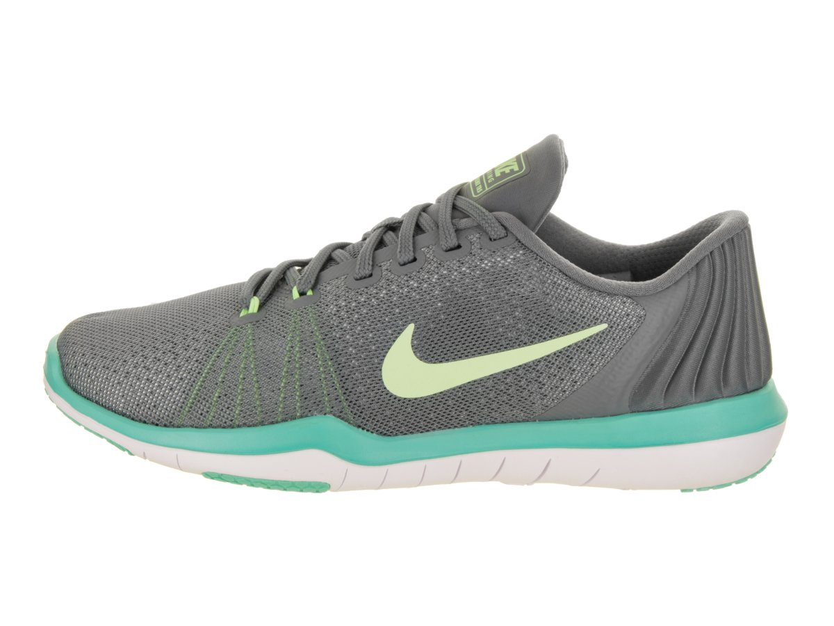 NIKE Women's Flex Supreme TR 5 Cross Training Shoe B01N9K13KY 9.5 B(M) US|Cool Grey/Barely Volt/Aurora Green/White