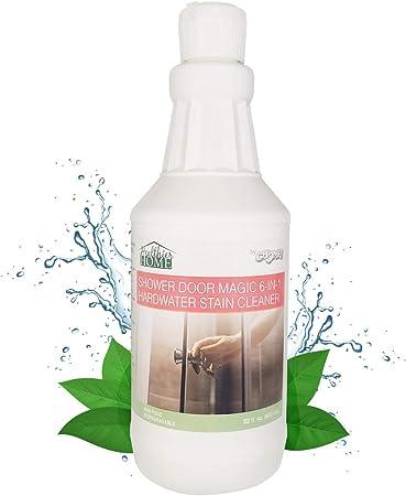 Removedor de manchas de agua duras: limpiador de gel de baño Chomp con escudo de escoria