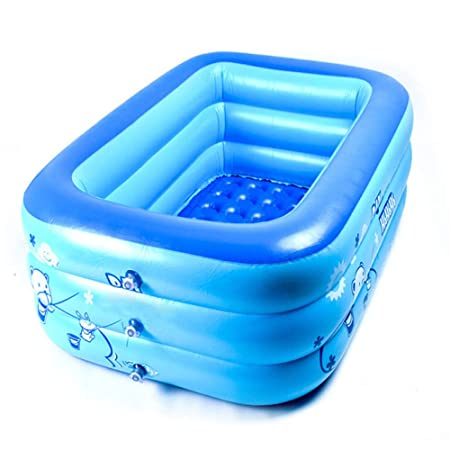 FLY FLAP Piscina Hinchable Infantil,Families Rectangular Piscinas ...