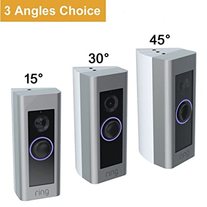 cavn 3 pack adjustable 15 to 45 degree ring video doorbell pro rh amazon com
