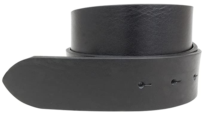 Wechselgürtel aus Vollrindleder ohne Schnalle 4,0 cm | Druckknopf Gürtel für Damen Herren 40mm | Leder Gürtel in Schwarz Braun Blau Cognac 4cm