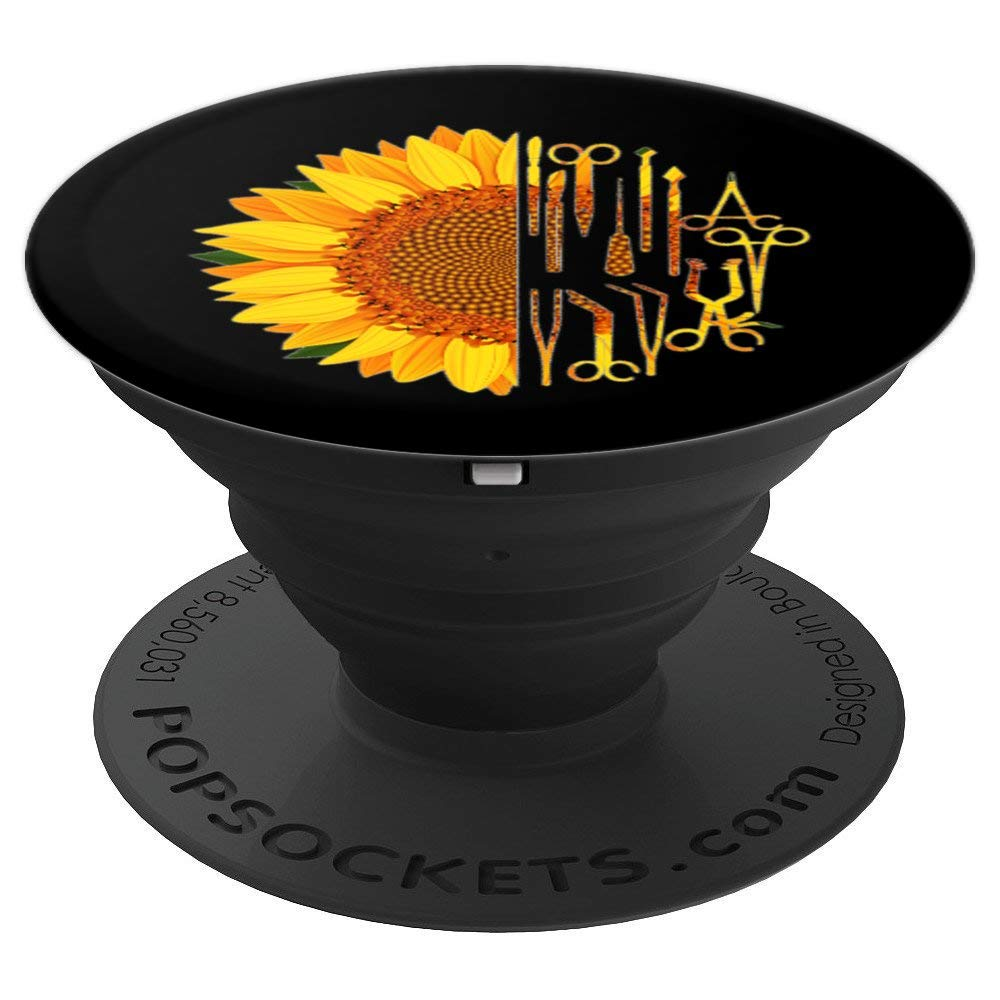 Surgical Scrub Tech Surgeon Sunflower Surgery Intern - PopSockets Grip and Stand for Phones and Tablets by Scrub Tech Smitten by Kristin