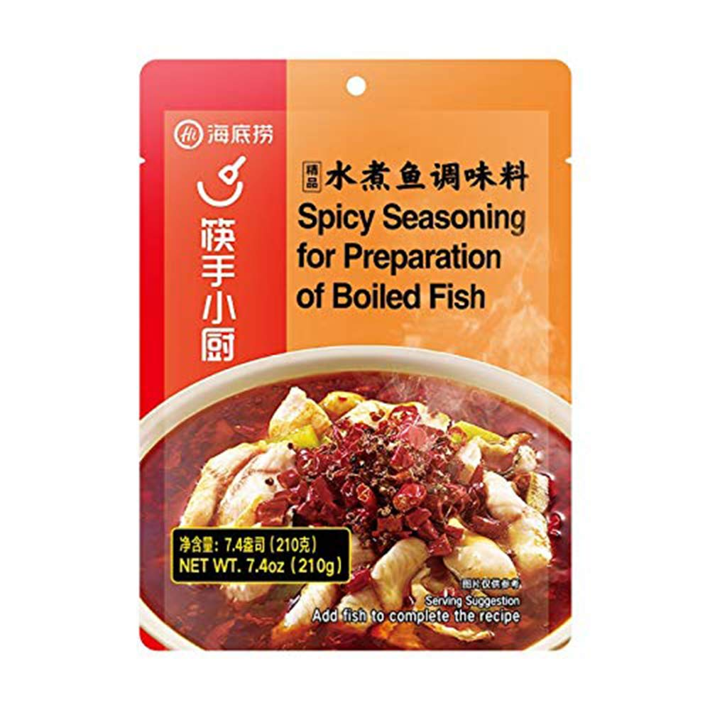 Hai Di Lao (海底捞)水煮鱼调味料 Spicy Seasoning For Preparation Of Boiled Fish 7oz
