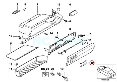 amazon bmw genuine lockable flap automotive 1985 BMW 325E Interior bmw genuine lockable flap