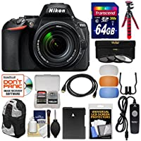 Nikon D5600 Wi-Fi Digital SLR Camera & 18-140mm VR DX AF-S Lens with 64GB Card + Backpack + Battery + Tripod + 3 Filters + Remote Kit