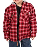 Farmall IH Boy's Thermal Lined Flannel Hoodie 2 Red/Black 5
