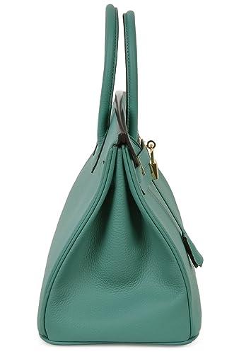 4ee26780346 Cherish Kiss Women s Handbags Genuine Leather Tote Padlock Bags  Handbags   Amazon.com