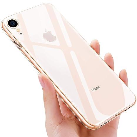 selezione migliore ea3b8 120f6 UBEGOOD Custodia iPhone XR, Cover iPhone XR Morbida Silicone Ultra Sottile  e Anti-Graffio Anti Impronta Digitale Copertura Protettiva Case Cover Ultra  ...