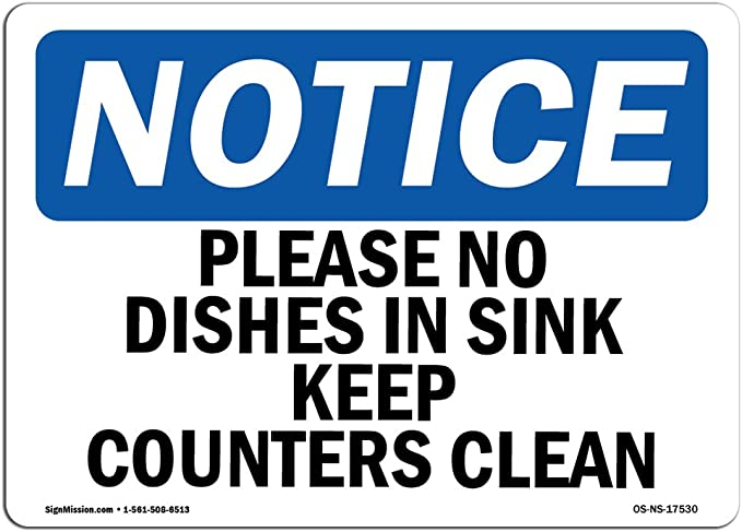 ANSI Notice Sign, Do Not Store Laboratory Chemicals Under This Sink Sign