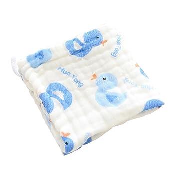 6 capas algodón dibujos animados bebé Saliva Toalla suave Toallitas para bebé Niños baberos bebé baño paños y toallas: Amazon.es: Hogar