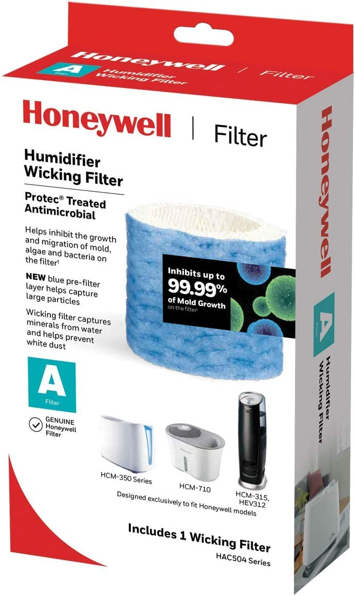 HONEYWELL Replacement Wicking Filter A, 1 Count, White (Renewed)