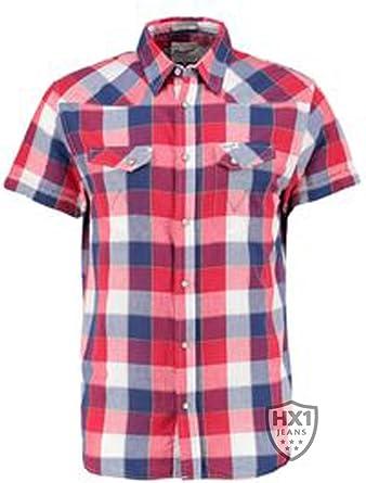Wrangler S/S Heritage Western Tomato Puree Camisa, Multicolor (Coloured), Small para Hombre: Amazon.es: Ropa y accesorios
