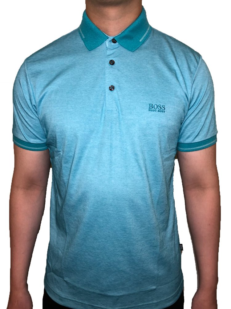 Hugo Boss Polo Shirt in fine Piqué (Large, Mint)
