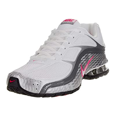 Nike Women's Reax Run 5 Running Shoe (5.5, White/Grey/Spark) | Road Running