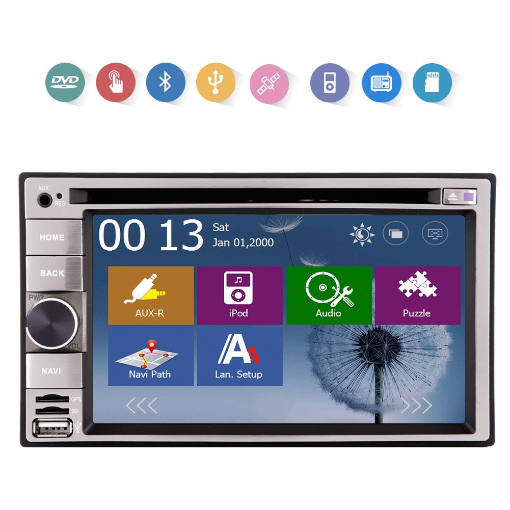 Electrš®nica de Radio Auto DVD 2 DIN en el Tablero de la Platina de všªdeo de Coches Car Stereo Automotive Parts MP3 Mš²sica Unidad Principal Autoradio CD ...