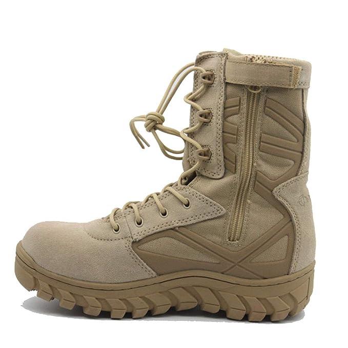 QIKAI Zapatos Militares Botas Tácticas De Alto Desierto Para