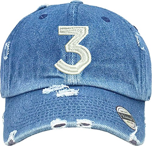 Hat Chance 3 Dad Hat Embroidered Cool Hot Cap (Medium Denim) ()