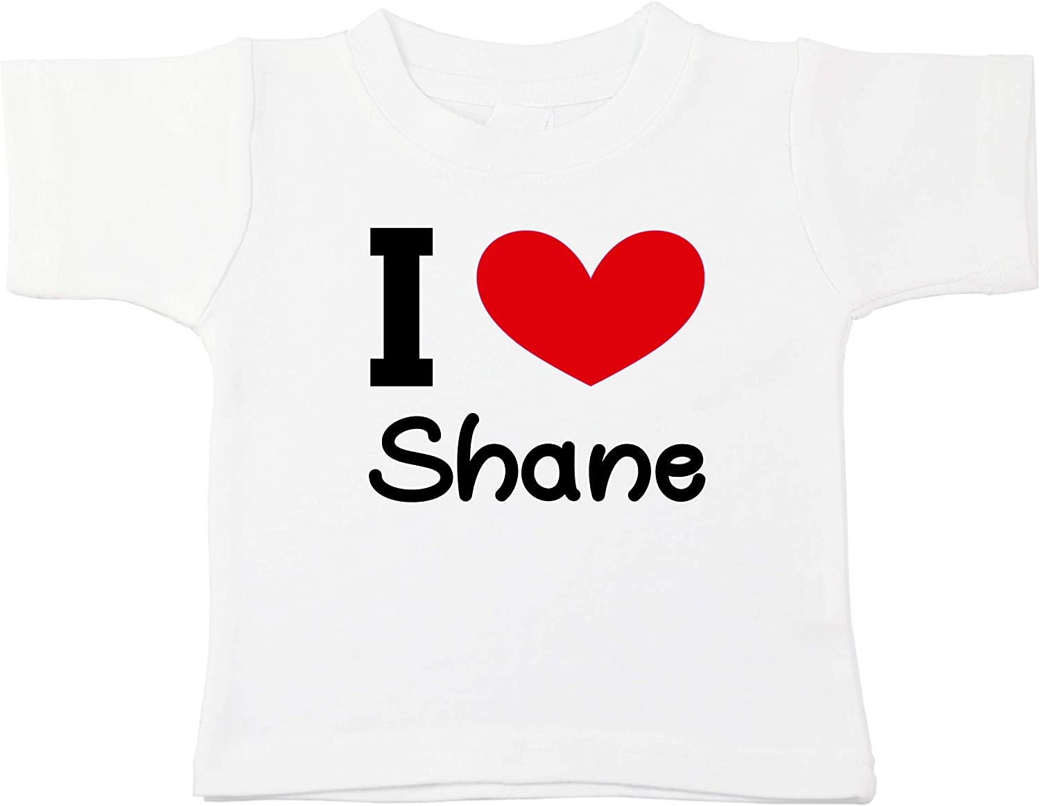 Kinacle I Love Shane Personalized Baby//Toddler T-Shirt