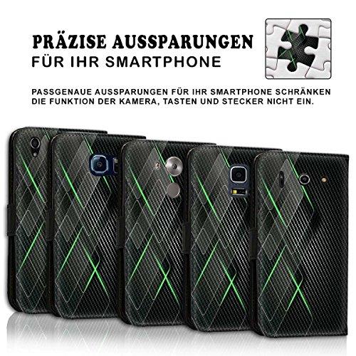 Wallet Book Style Flip Handy Tasche Case Schutz Hülle Schale Motiv Etui für Apple iPhone 6 Plus / 6S Plus - Design Flip MVD413