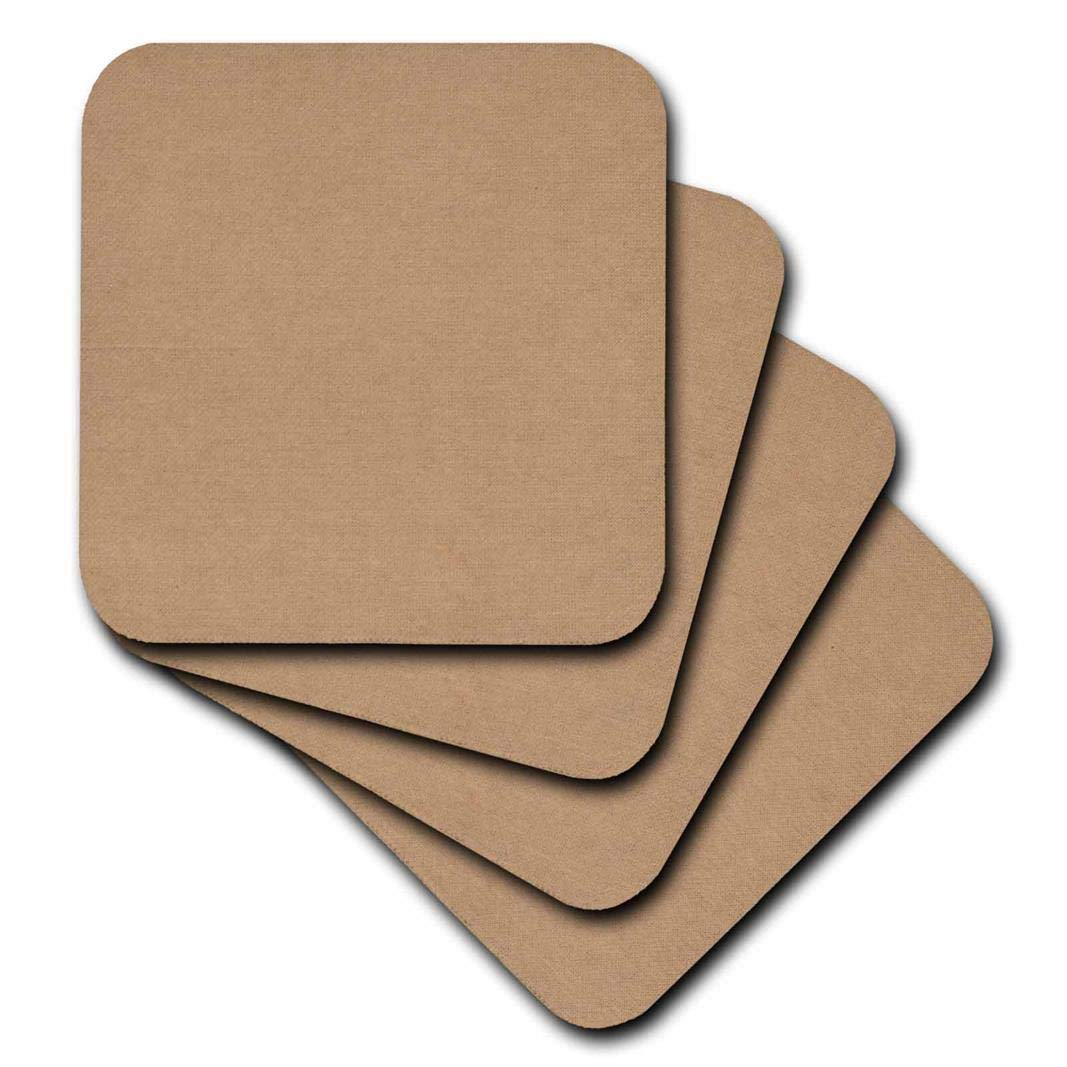 3dRose CST/_62628/_2 Natural Cardboard Texture Soft Coasters Set of 8