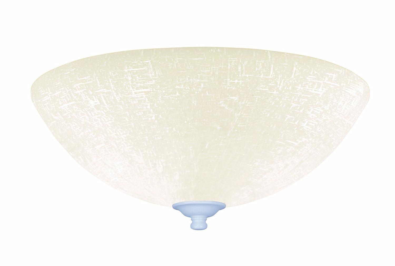 (Satin White) - Emerson Ceiling Fans LK83SW White Linen Light Fixture for Ceiling Fans, Medium Base CFL  サテンホワイト B00BBG91N4