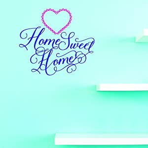 Vinyl Wall Decal Sticker : Home Sweet Home Home Decor Picture Art 10 Inches X 20 Inches