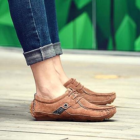 FEIFEI Hommes chaussures style britannique mode givré confortable résistant à l'usure des chaussures occasionnelles chaussures paresseux (Couleur : Marron, taille : EU39/UK6.5/CN40)