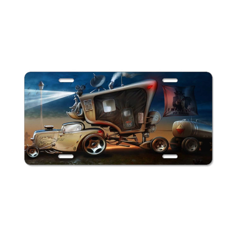 Chevrolet Avalanche Black Coated Metal License Plate Frame Holder