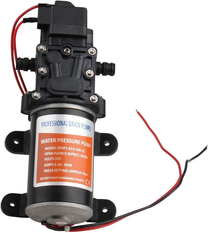 Excellent 12V 100 PSI Self-Priming Water Pump RV Boat High Pressure Marine//Boat