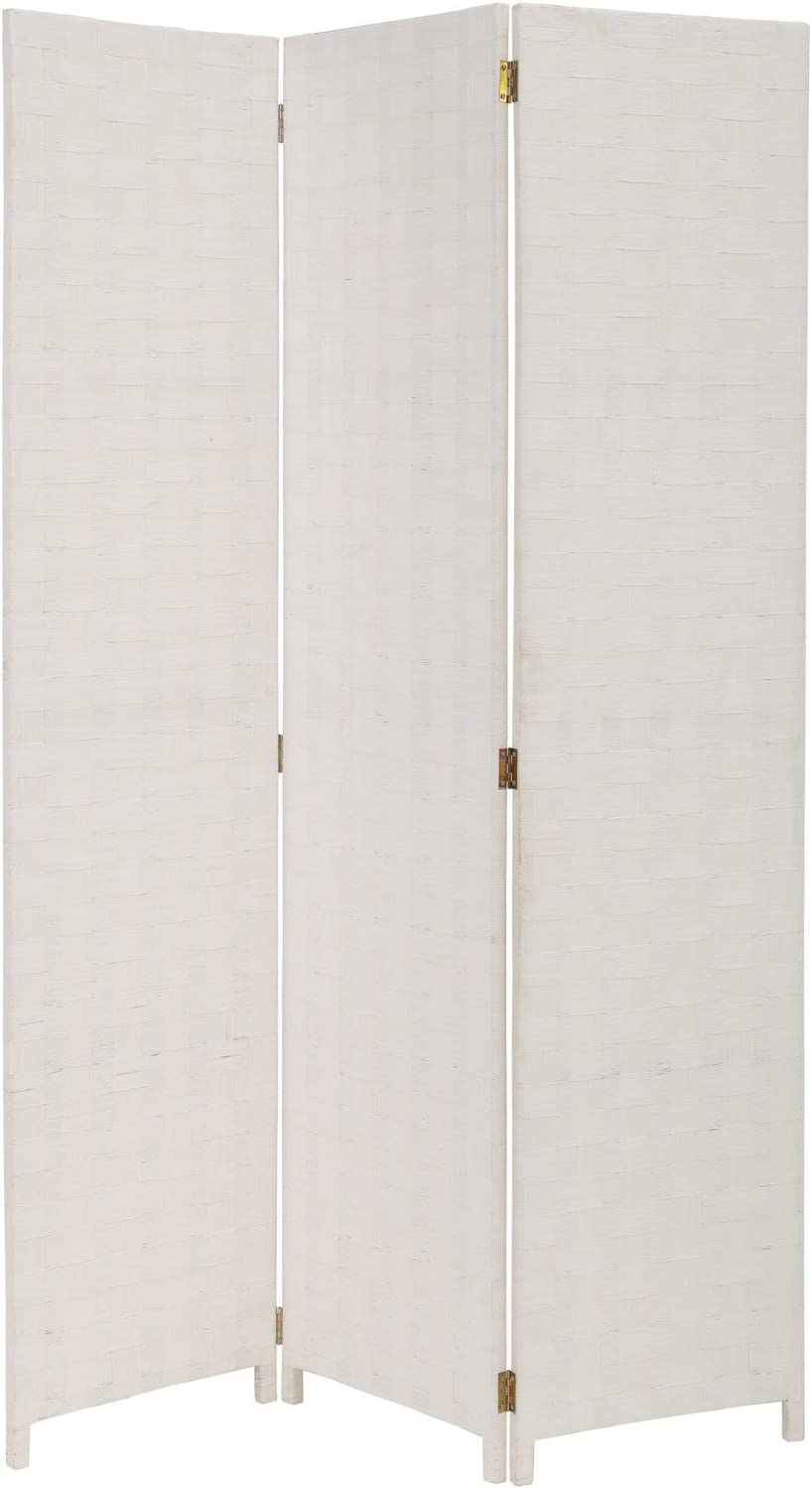 Biombo Plegable Oriental Blanco de Madera para salón Vitta - LOLAhome