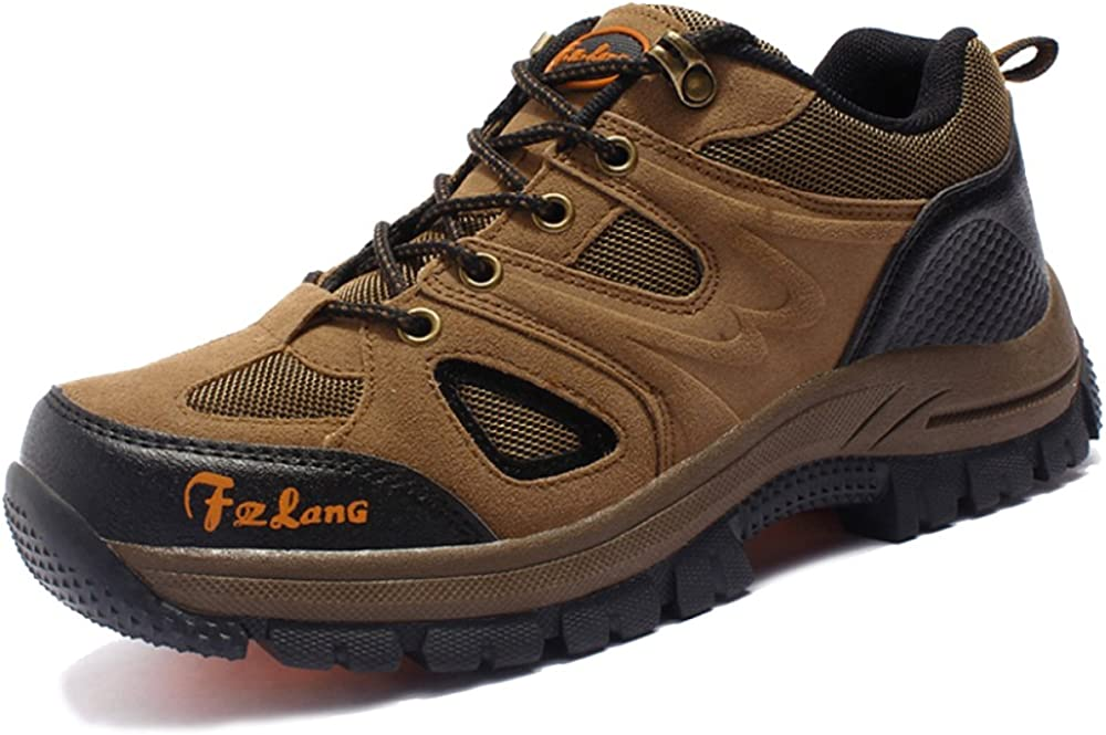 DSFGHE Mens Sneakers Casual Trainer Fitness Outdoor Hiking Trekking Breathable,Brown-41