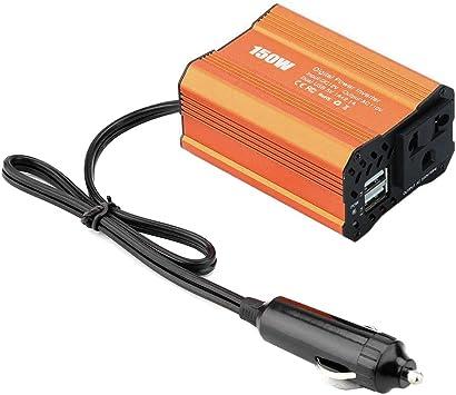 DEDC 150W Auto Wechselrichter KFZ Autokonverter Spannungswandler DC 12V auf AC 220V Power Inverter mit 2 USB Anschl/üssen 1 Zigarettenanz/ünder Anschl/üsse