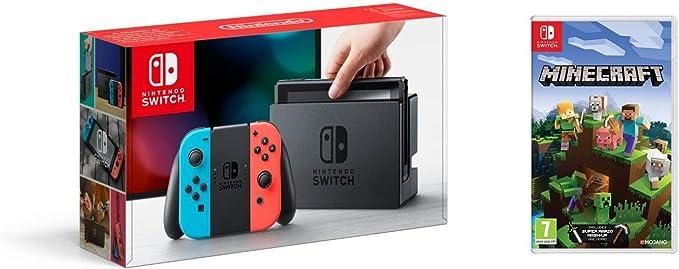 Nintendo Switch - Consola color Azul Neón/Rojo Neón + Minecraft: Amazon.es: Videojuegos