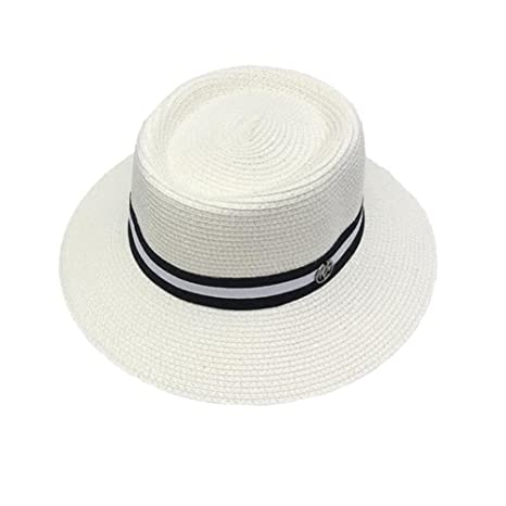 HONEY Cappelli Di Paglia Maschili E Femminili Paglia A Tesa Larga Bombetta  Cappello Estivo Cappello Panama 54b0cf773030
