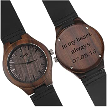 Custom Personalized Wooden Watch For Men