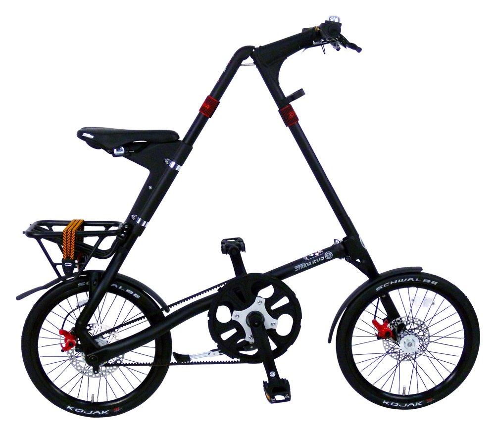 STRIDA (ストライダ) STRIDA EVO 18インチ折りたたみ自転車 内装3段変速 B00CHI2B7S マットブラック マットブラック