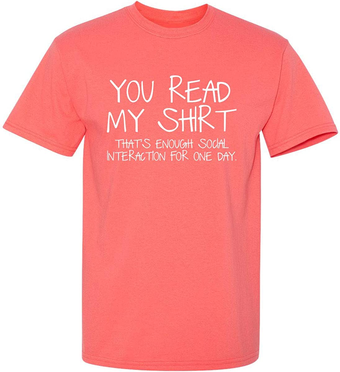 Enough Social Interaction Graphic Novelty Sarcastic Funny T Shirt