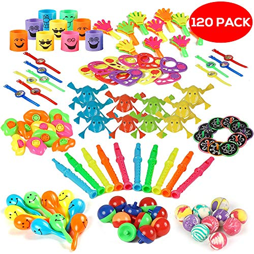 120 Bulk Party Toys - Assorted Giveaways for Kids Birthday Party Supply | Goodie Bag Fillers | Classroom Prize & Rewards | Pinata stuffing | Lucky Dip favors | Christmas Gifts for Children (Pinata Gifts)