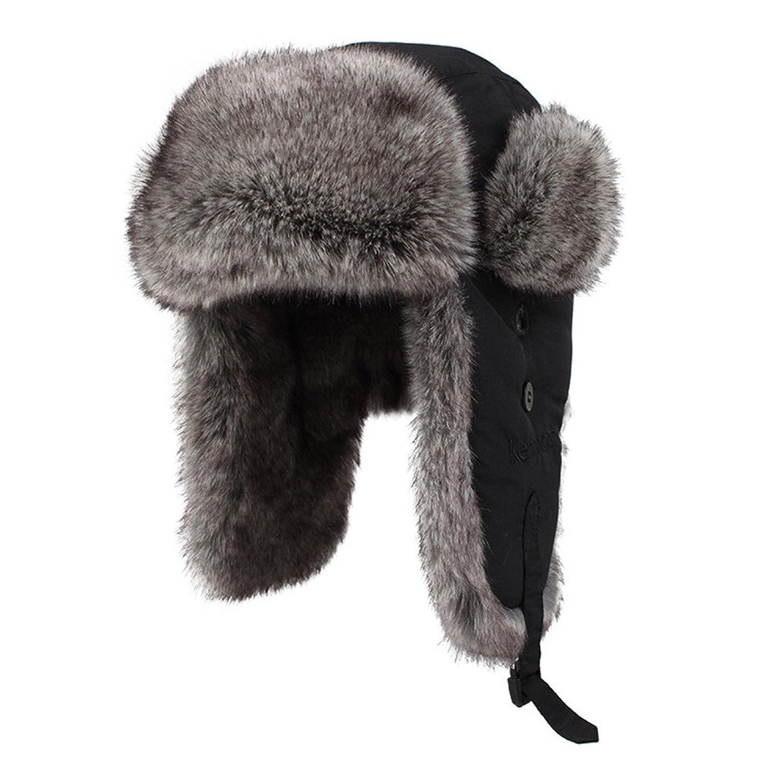 Kenmont unisex Kunstpelz Winter Russland Bomber Hut Trapper Ohrenklappe Fliegermütze