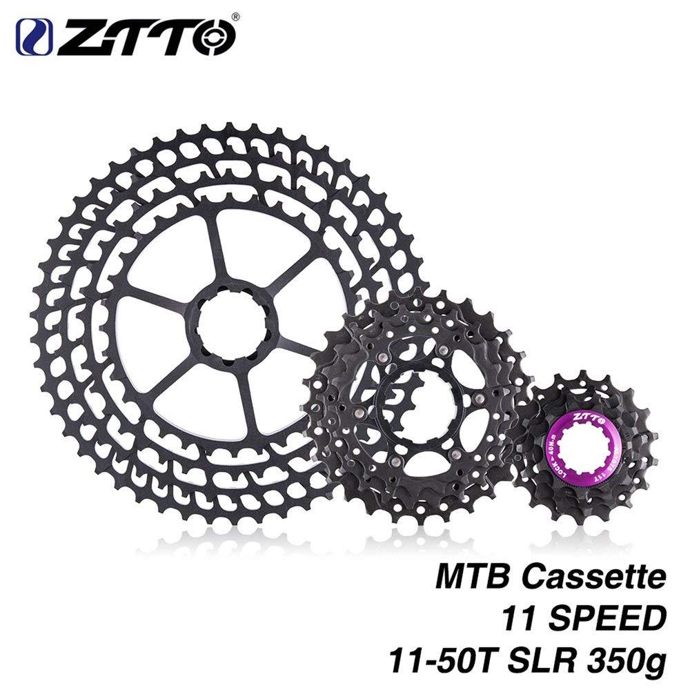 Erduo ZTTO 11-Fach Kassette 11-50T Ultralight Freilaufkompatibel mit Rennrad Hochfeste Stahlkettenräder Klappbare Zahnräder - Schwarz