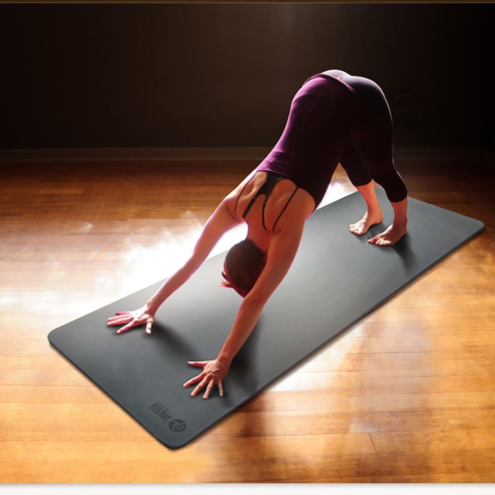 Lmzyan Schwarz Grau 5mm Natürliche Gummi Yoga Mat, Männer und Frauen Professionelle Fitness Anti-Rutsch-Pad 183  68cm