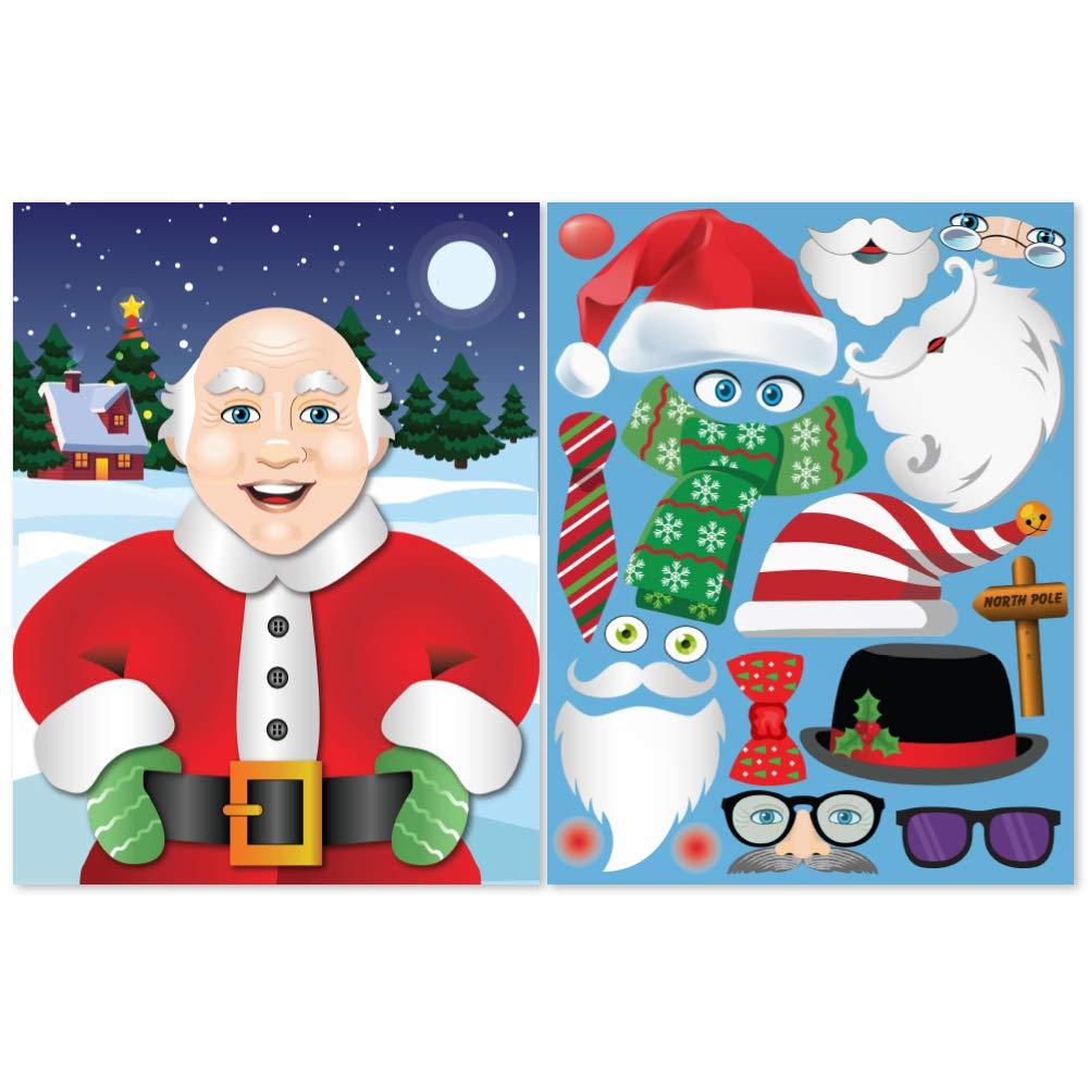 Colonel Pickles Novelties Make A Santa Sticker Kits Fall Christmas Crafts for Kids DIY Supplies