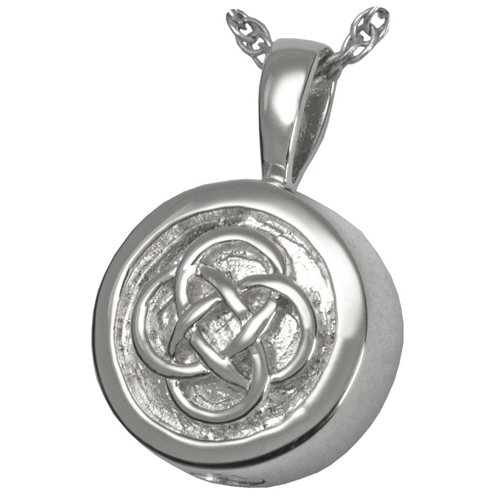 Memorial Gallery 3213wg Celtic Signet 14K Solid White Gold (Allow 4-5 Weeks) Cremation Pet Jewelry