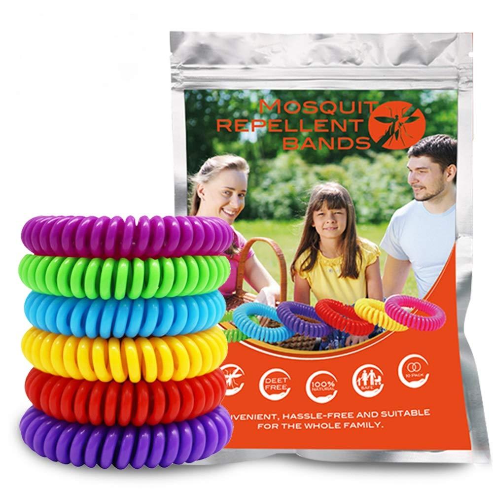 GLOUE Mosquito Repellent Wristbands, 100% Waterproof Mosquito Repellent Wristbands, One Size Fit-All Mosquito Repellent Wristbands, Stylish Mosquito Repellent Wristbands by GLOUE
