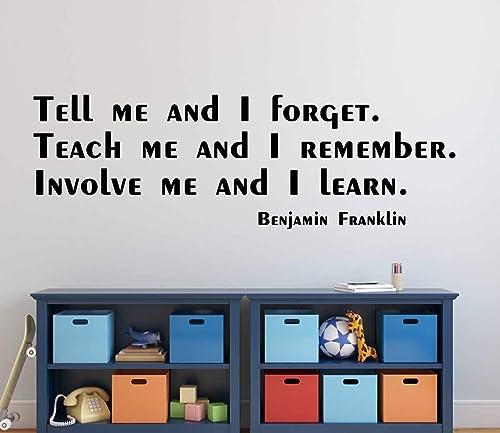 com benjamin franklin quotes wall decal involve me and i