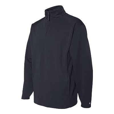 Badger Quarter-Zip Polyester Fleece Pullover 1480