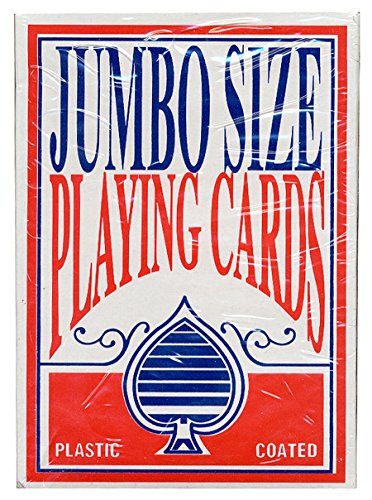 Oversize Playing Cards - 1 Big Over-sized Poker Playing Cards Red Jumbo Deck 5