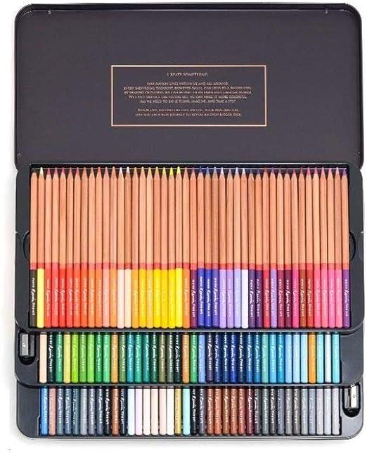 TTZ Lápices de Colores Set de Arte de lápices de Dibujo Profesional con Estuche de Cremallera Negro Premium for Adultos o niños: lápices de Colores únicos for Colorear, Dibujar, Escribir, Dibujar: Amazon.es: