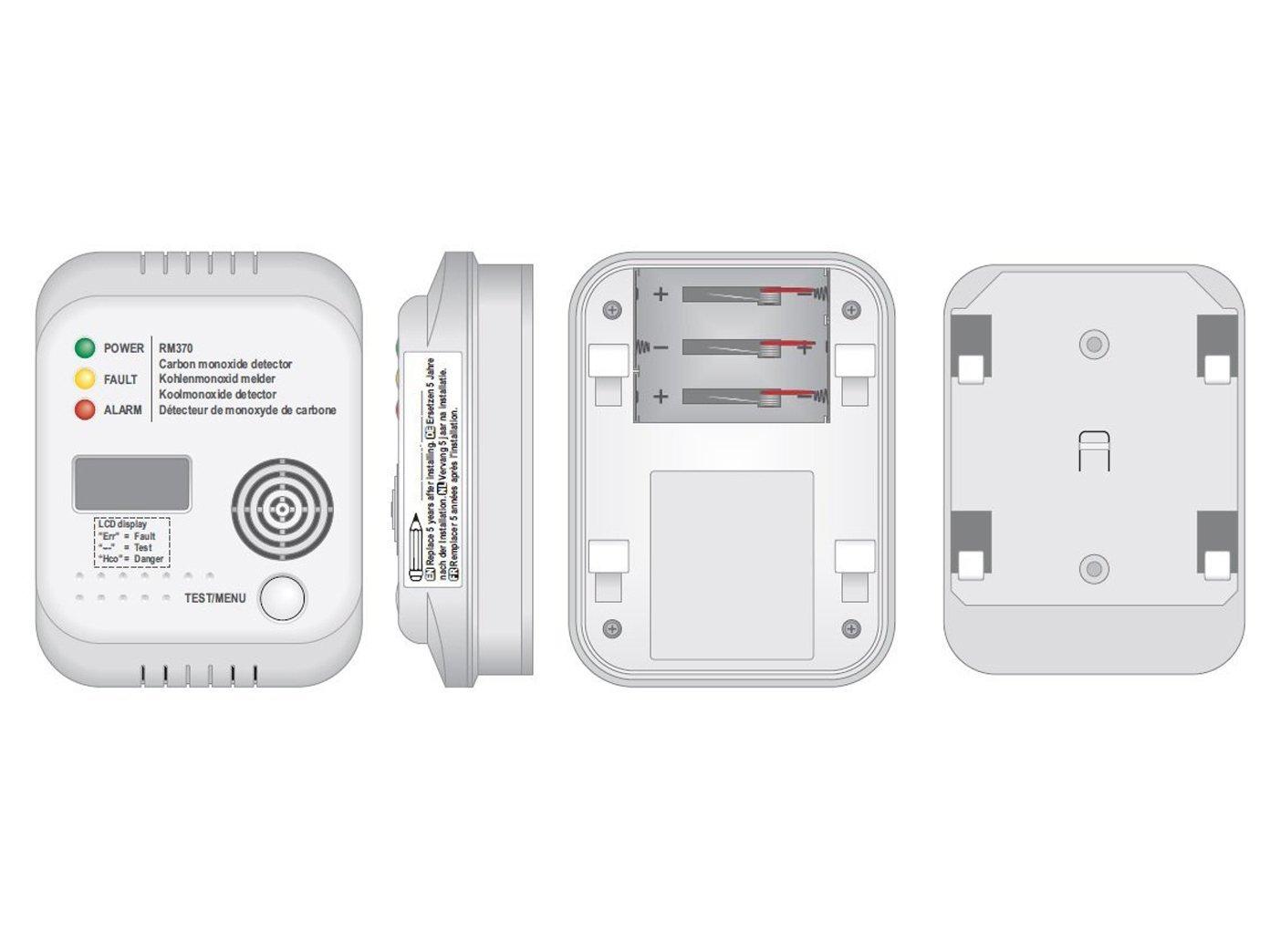 Protección contra incendios de SET3 (3 x TÜV Detector de ...